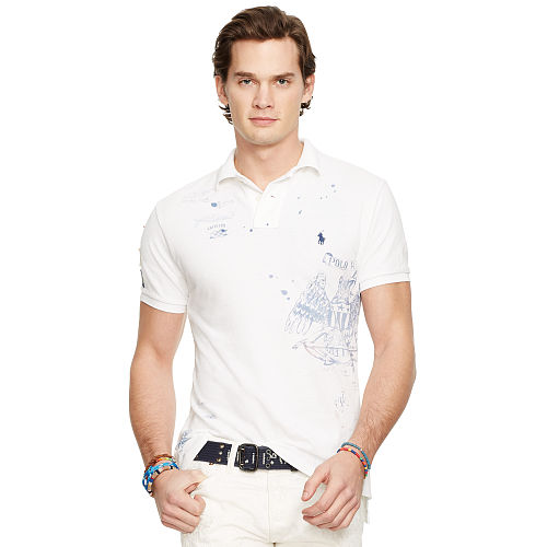 Custom Fit Graphic Polo Shirt 93752316