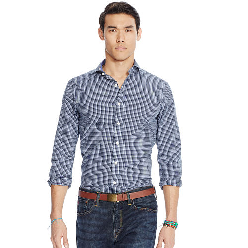 Estate Slim Plaid Poplin Shirt 89234806