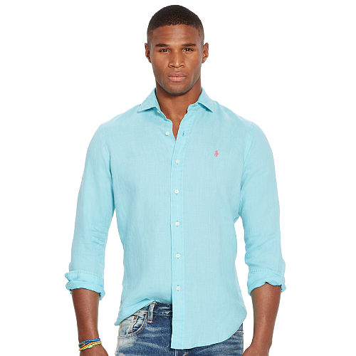 Slim Fit Linen Shirt 93752126