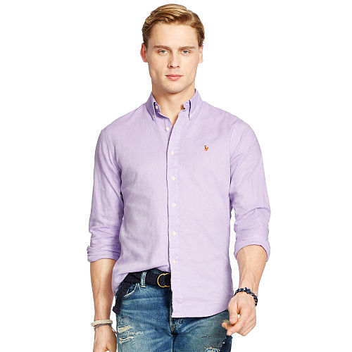Slim Fit Chambray Oxford Shirt 93751836