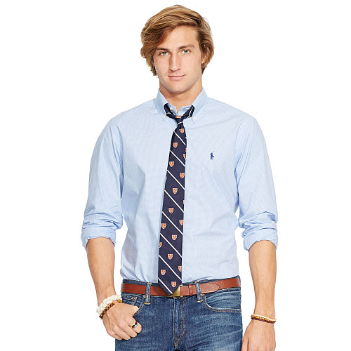 Checked Cotton Poplin Shirt 69417376