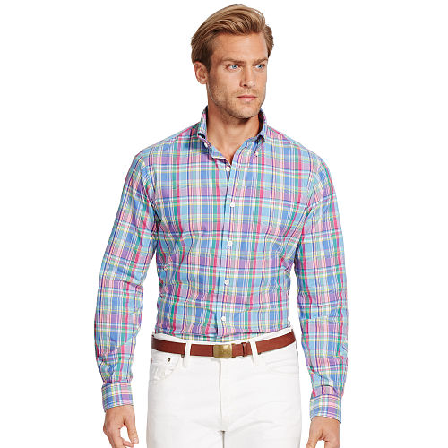 Plaid Poplin Sport Shirt 84776726