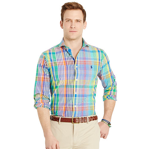 Plaid Poplin Sport Shirt 93752176