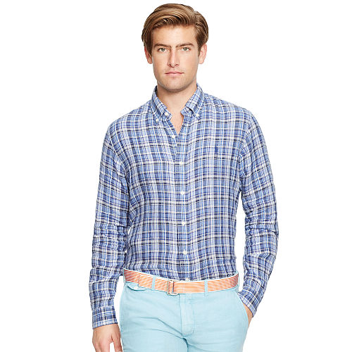 Plaid Linen Shirt 80054986