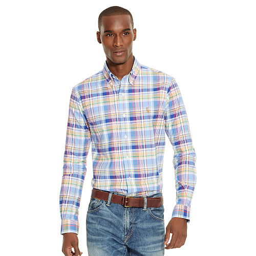 Plaid Oxford Sport Shirt 88639686