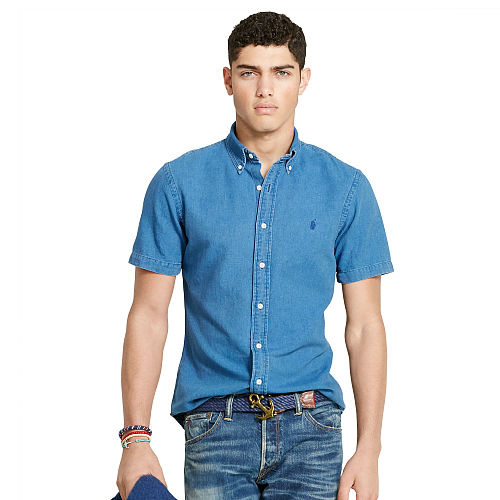 Slim Fit Indigo Oxford Shirt 90764426