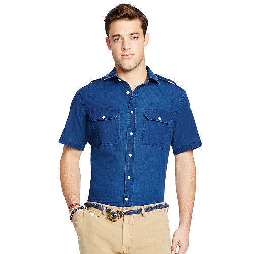Chambray Short Sleeve Shirt 93752066