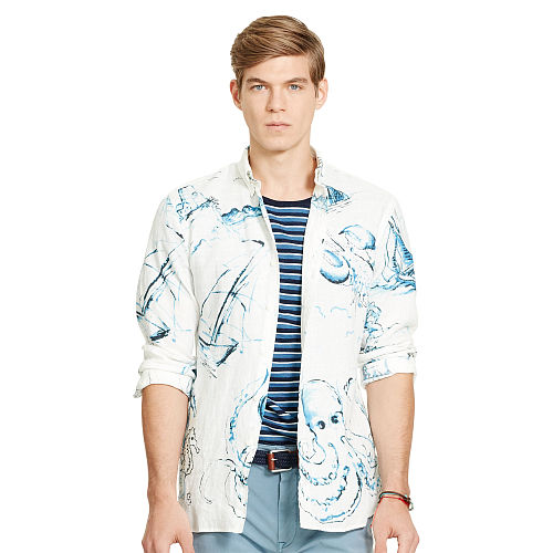 Nautical Linen Sport Shirt 94664156