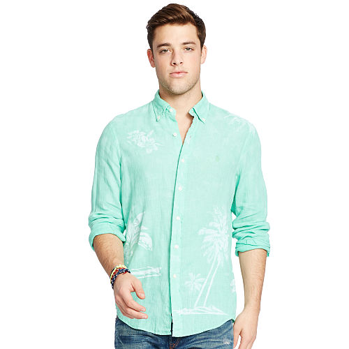 Linen Graphic Sport Shirt 93751816