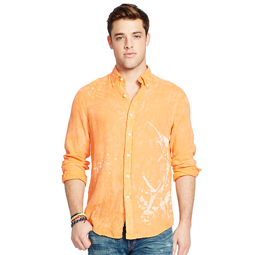 Linen Graphic Sport Shirt 93752876