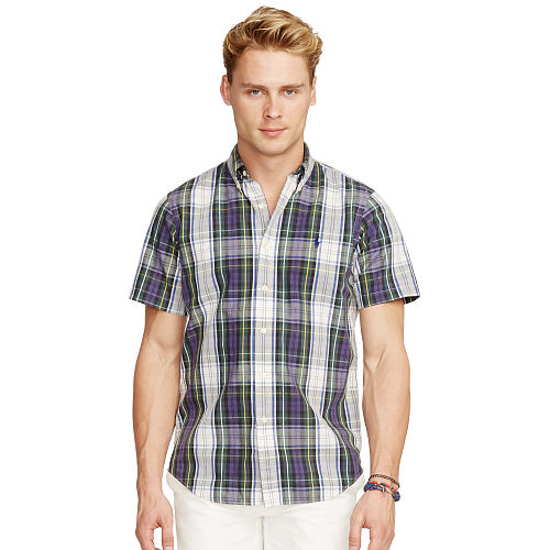 Plaid Short Sleeve Shirt 90764336