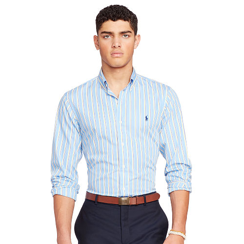 Striped Poplin Sport Shirt 93751826