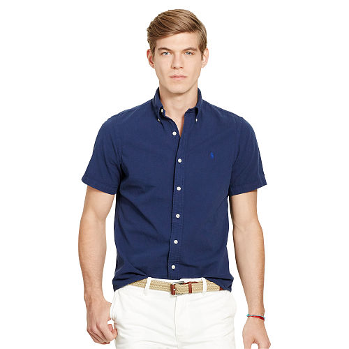 Slim Cotton Seersucker Shirt 93752076