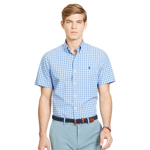 Plaid Poplin Sport Shirt 93751856