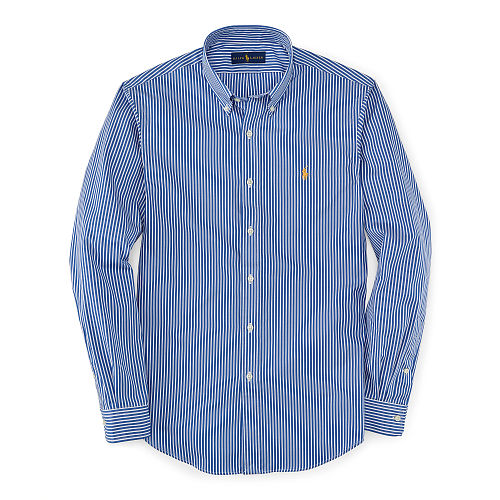 Slim Fit Striped Poplin Shirt 84776626