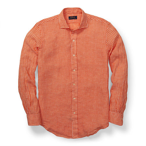 Estate Gingham Linen Shirt 80054836