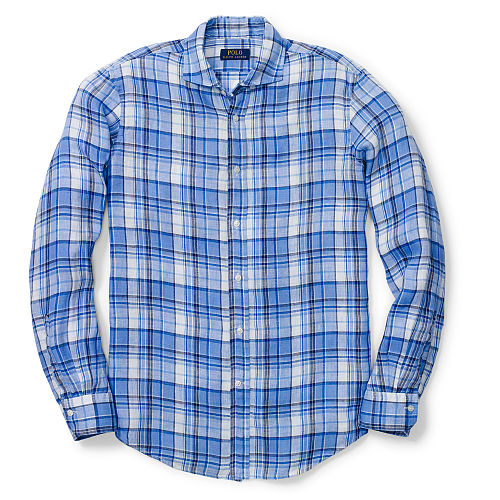 Plaid Linen Sport Shirt 80054846