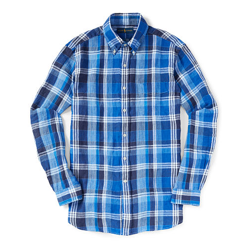 Plaid Linen Sport Shirt 89017376
