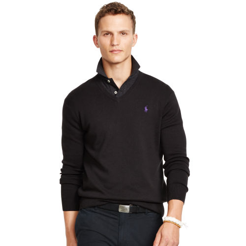 Pima Cotton V Neck Sweater 90103966