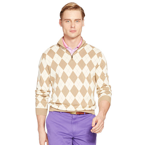 Argyle Pima Cotton Sweater 90050906