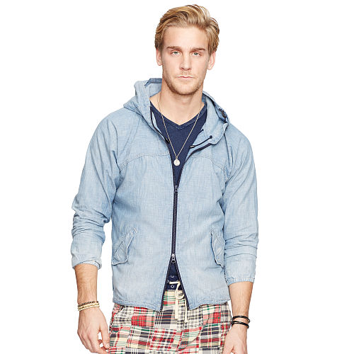 Chambray Hooded Jacket 92844476