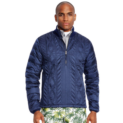 Quilted Down Cable Jacket 67177066