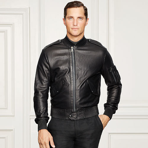 Perforated Leather Bomber 81699936