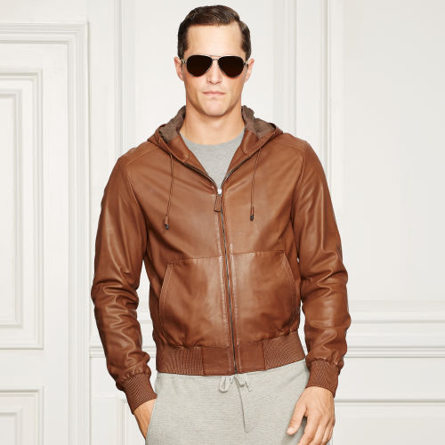 Anton Leather Hooded Jacket 81245856