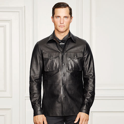 Grafton Bonded Leather Shirt 83099236