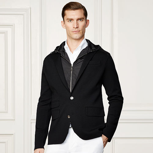 Wool Blend Hooded Blazer 83099306
