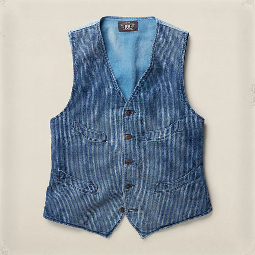 Abrams Indigo Cotton Vest 85545606