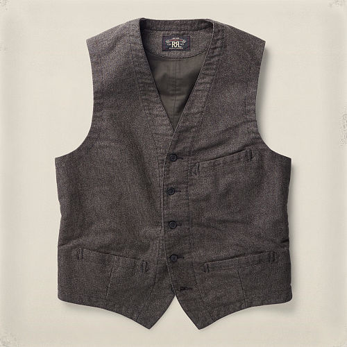 Striped Cotton Vest 87370246