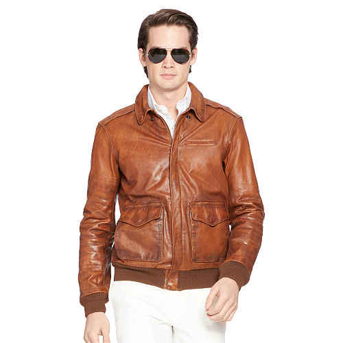 Nappa Leather Bomber Jacket 89070616