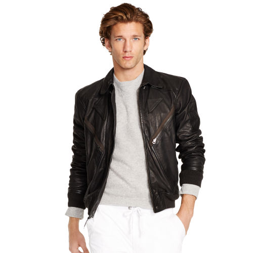 Leather Flight Jacket 80053996