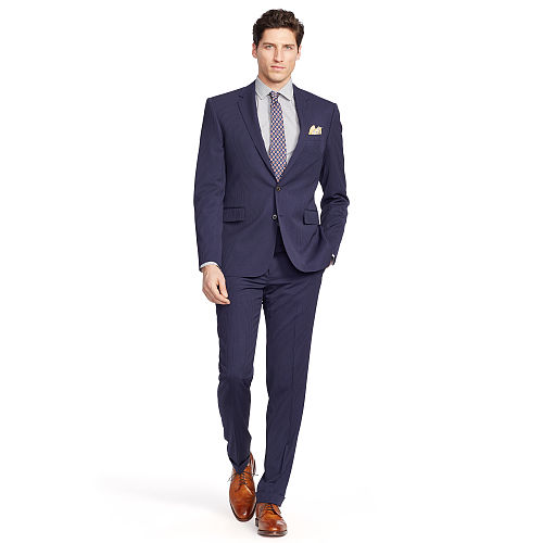 Connery Striped Gabardine Suit 82502776