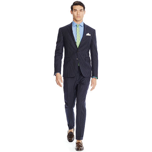 Polo Pinstriped Wool Suit 83569176