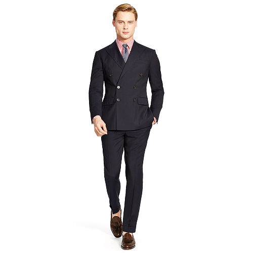 Polo Double Breasted Wool Suit 83569286