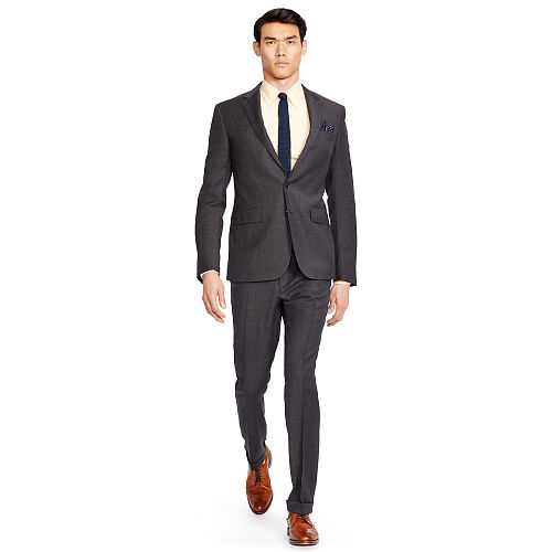 Polo Textured Wool Suit 83569246
