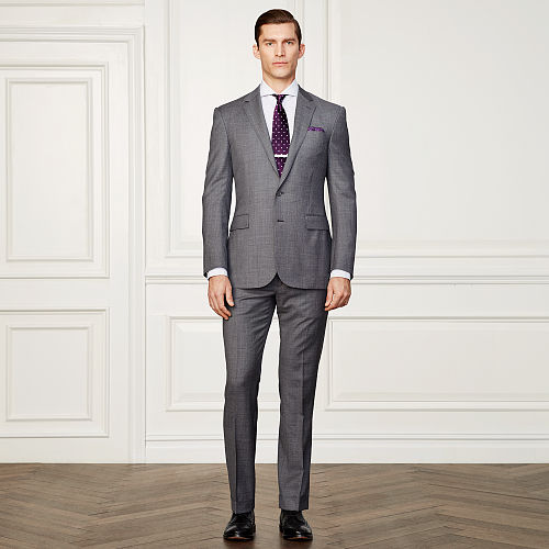 Anthony Wool Sharkskin Suit 83760606
