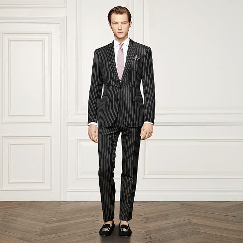 Anthony Linen Striped Suit 87952626