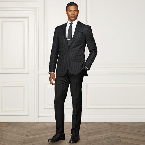 Anthony Pinstriped Wool Suit 83760626
