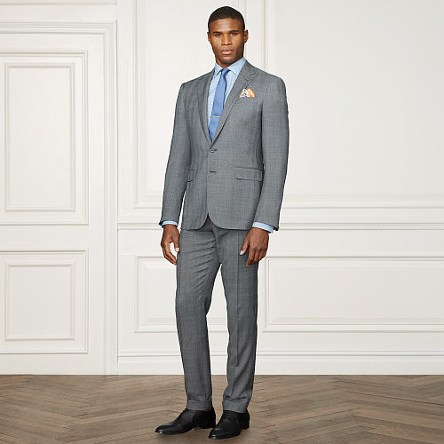 Anthony Glen Plaid Wool Suit 84169636