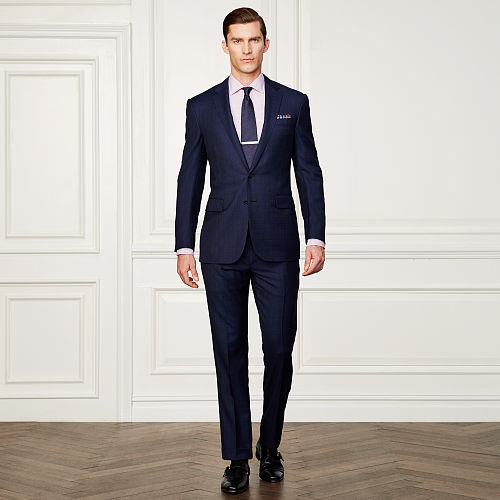 Anthony Glen Plaid Wool Suit 83760686