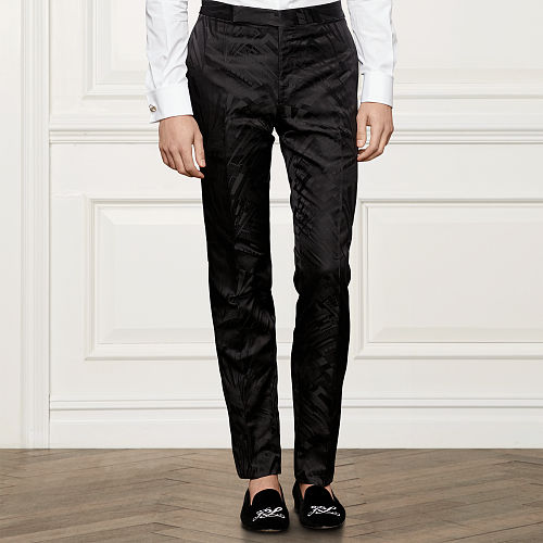 Anthony Jacquard Trousers 87952656