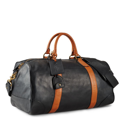 Smooth Leather Duffle Bag 62953836