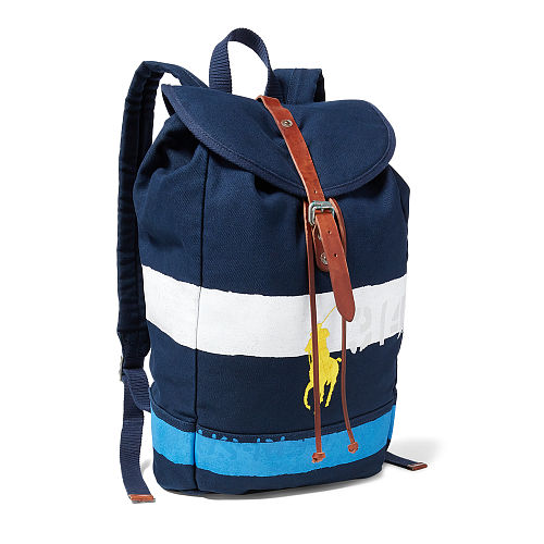 Striped Canvas Backpack 94431476