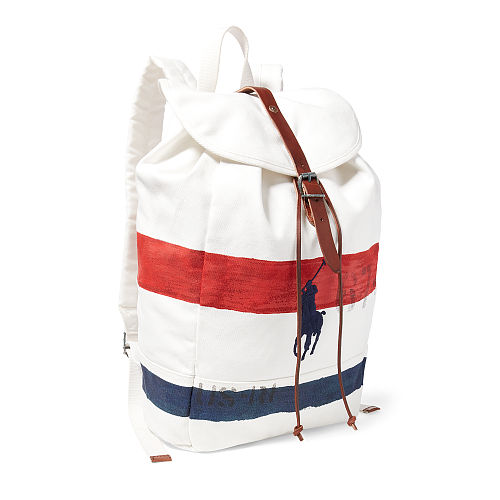 Striped Canvas Backpack 94431616