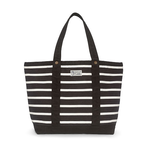 Striped Cotton Canvas Tote 78585106
