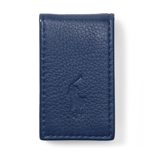 Pebbled Leather Money Clip 88845586