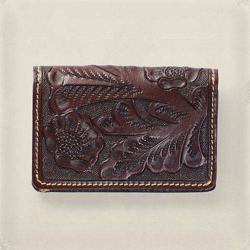 Tooled Leather Card Wallet 82569016